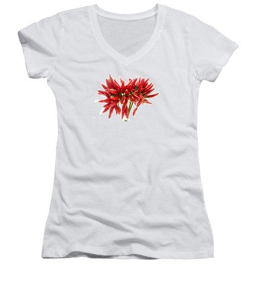 Chili Peppers Women's V-Neck