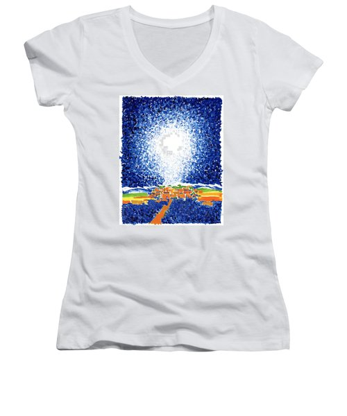 Christmas Star Women's V-Neck (Athletic Fit)