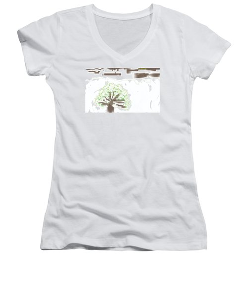 City Tree Women's V-Neck T-Shirt