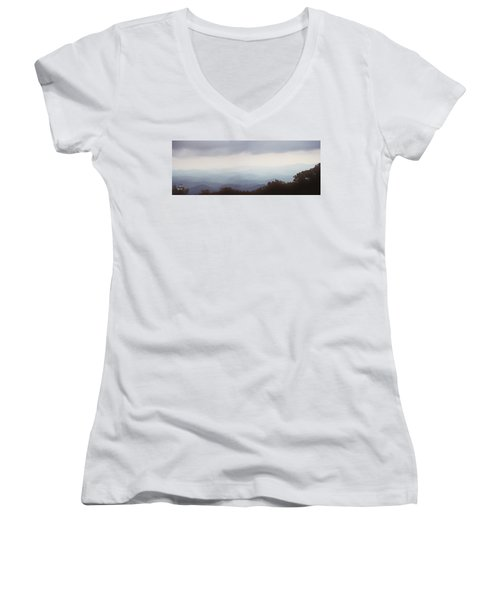 Clouds In The Mountains Women's V-Neck T-Shirt