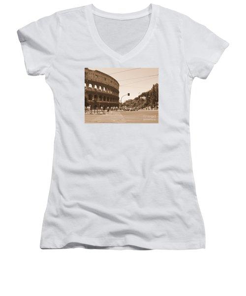 Colosseum In Sepia Women's V-Neck