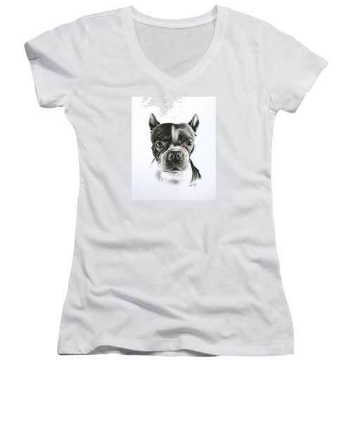 Cooper Women's V-Neck T-Shirt (Junior Cut) by Mike Ivey