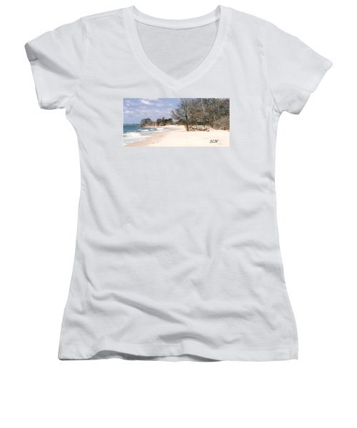 Deserted Island Women's V-Neck T-Shirt