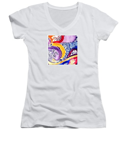 Dreaming In Watercolors Women's V-Neck