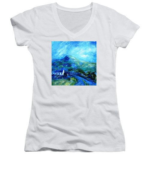Eagle Hill Lane -ireland  Women's V-Neck T-Shirt