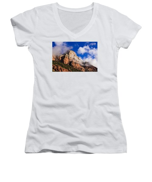 Early Morning Zion National Park Women's V-Neck (Athletic Fit)