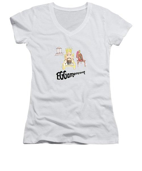 Eggamemnon Women's V-Neck T-Shirt