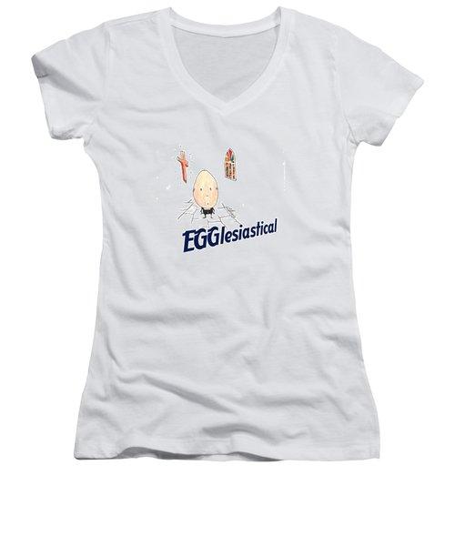 Egglesiastical Women's V-Neck T-Shirt