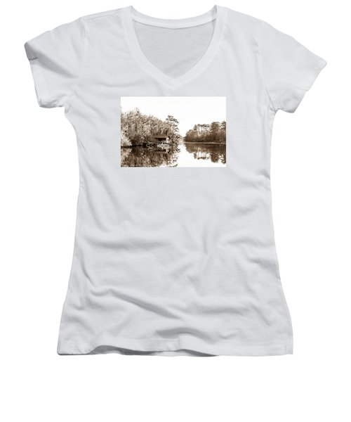 Women's V-Neck T-Shirt (Junior Cut) featuring the photograph Florida by Shannon Harrington