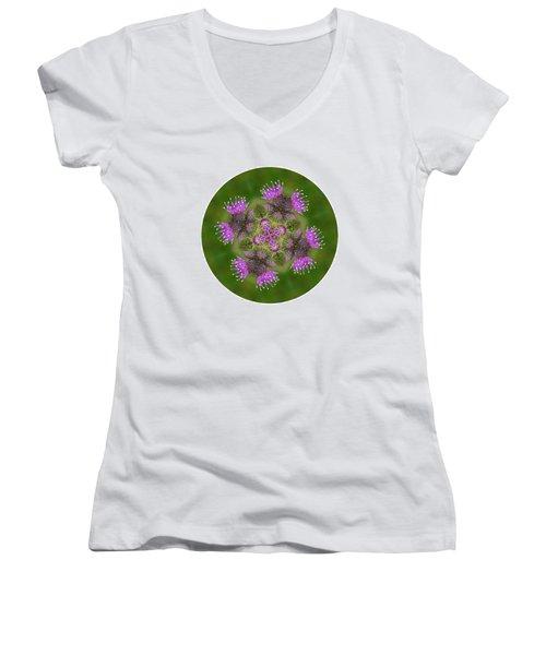 Women's V-Neck T-Shirt (Junior Cut) featuring the photograph Flower Of Scotland by Lynn Bolt