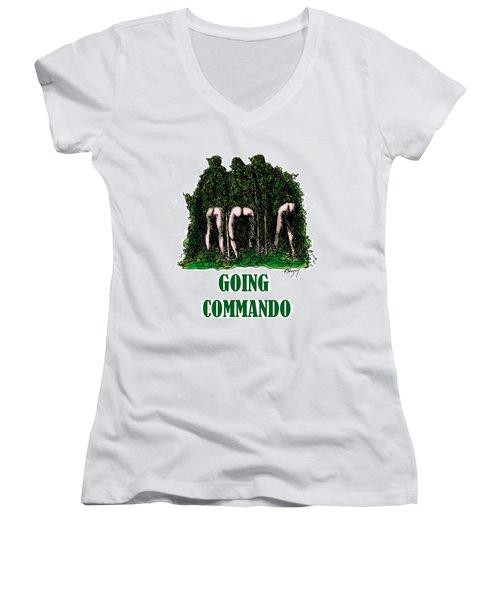 Going Commando Women's V-Neck