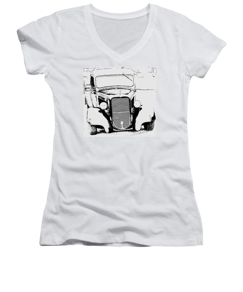 Good Ole Days Women's V-Neck T-Shirt (Junior Cut) by Greg Moores