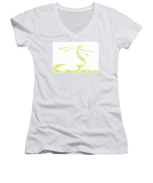 Ground Frond Women's V-Neck (Athletic Fit)