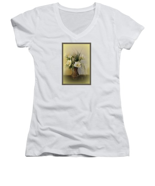 Women's V-Neck T-Shirt (Junior Cut) featuring the photograph Happiness by Sherri  Of Palm Springs