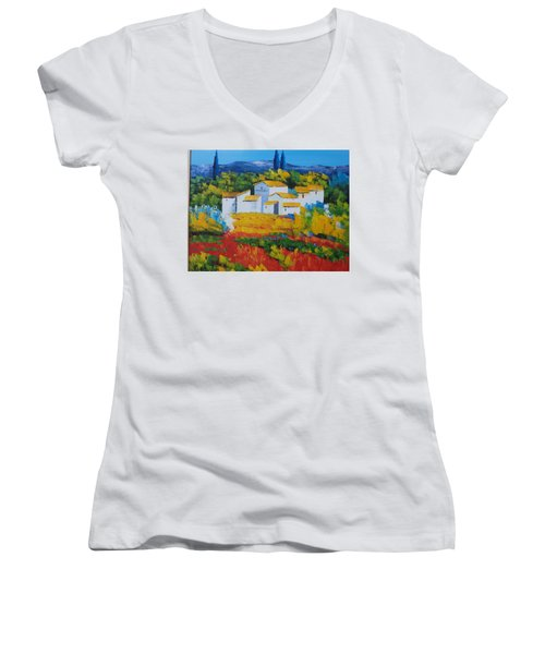 Hilltop Village Women's V-Neck T-Shirt