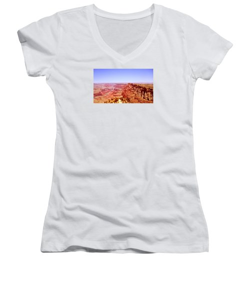 horizon in Grand Canyon Women's V-Neck T-Shirt