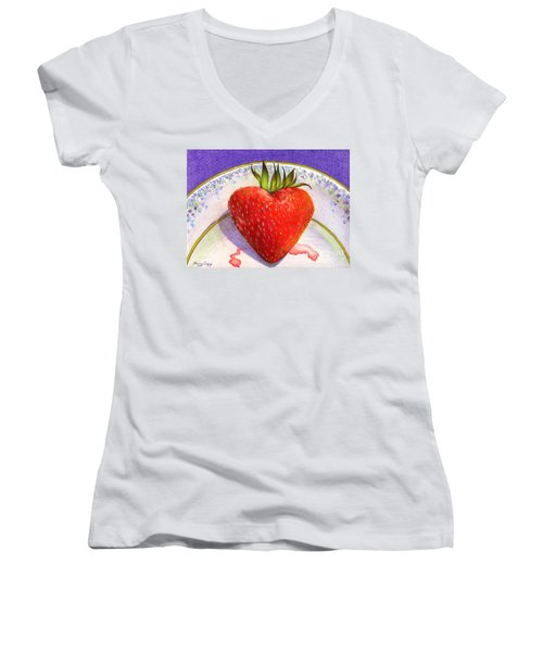 I Love You Berry Much Women's V-Neck