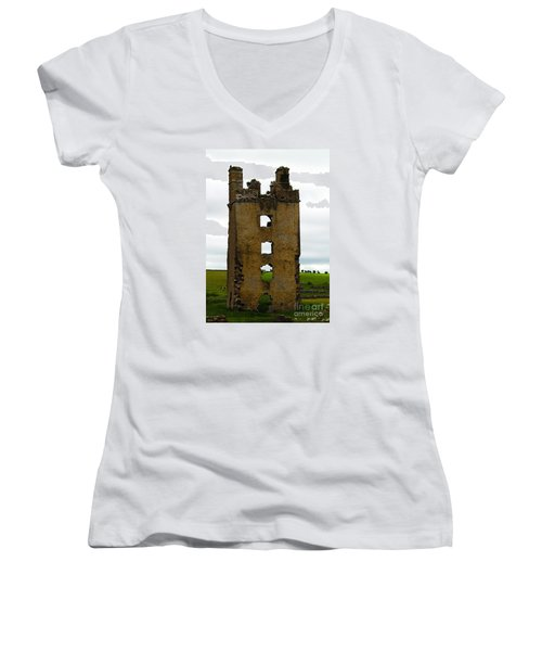 Ireland- Castle Ruins II Women's V-Neck