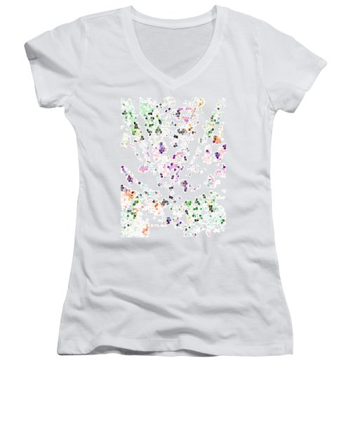 Women's V-Neck T-Shirt (Junior Cut) featuring the digital art It's A Mad World  by Steve Taylor