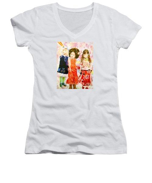 La Fete Women's V-Neck T-Shirt (Junior Cut) by Beth Saffer