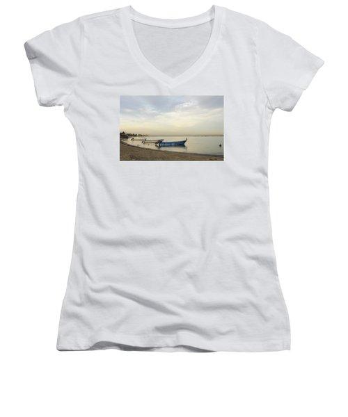 La Paz Waterfront Women's V-Neck T-Shirt