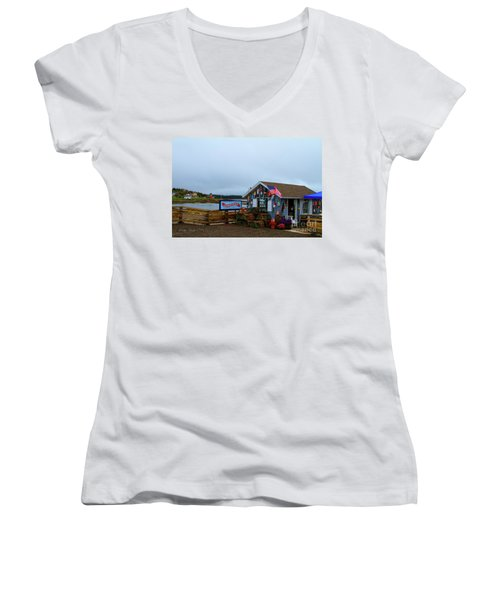 Lobster House Women's V-Neck (Athletic Fit)
