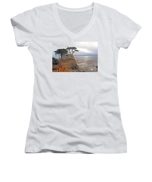 Lone Cypress Women's V-Neck (Athletic Fit)