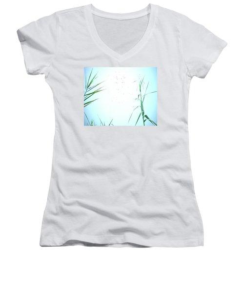 Women's V-Neck T-Shirt (Junior Cut) featuring the photograph Look Of Fog by Lizi Beard-Ward