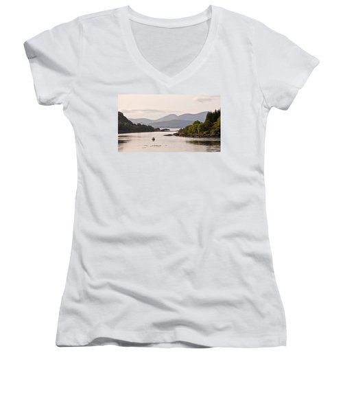 Looking To The Isle Of Mull Women's V-Neck T-Shirt