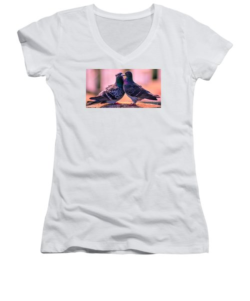 Love At First Site Women's V-Neck (Athletic Fit)