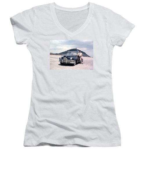 Back In The 50's Women's V-Neck (Athletic Fit)