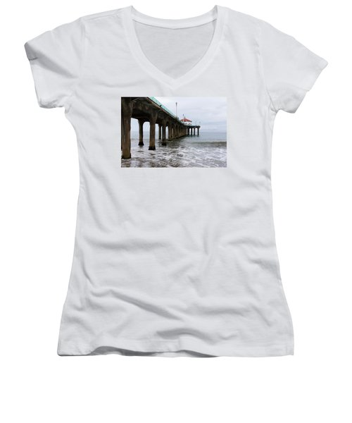 Manhattan Beach Pier Women's V-Neck