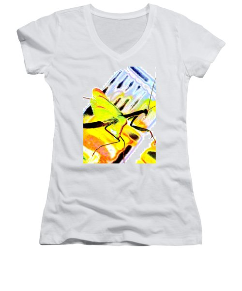 Mantis Women's V-Neck T-Shirt (Junior Cut)