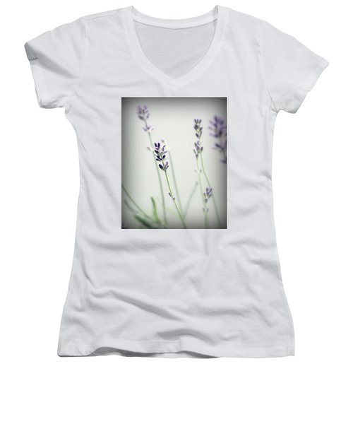 Women's V-Neck T-Shirt (Junior Cut) featuring the photograph Memories Of Provence by Brooke T Ryan