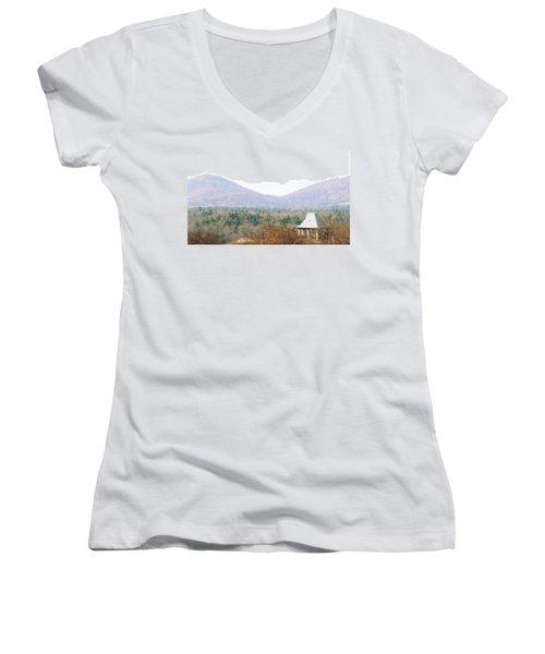 Mountains At Biltmore Women's V-Neck T-Shirt