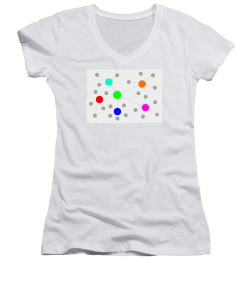 Network Women's V-Neck T-Shirt