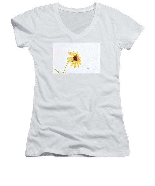 Never Alone Women's V-Neck T-Shirt