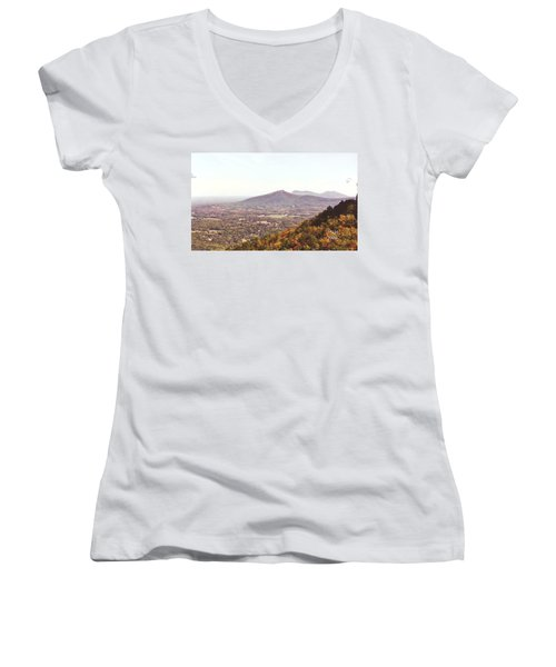 North Caolina Pilot Mountains Women's V-Neck T-Shirt