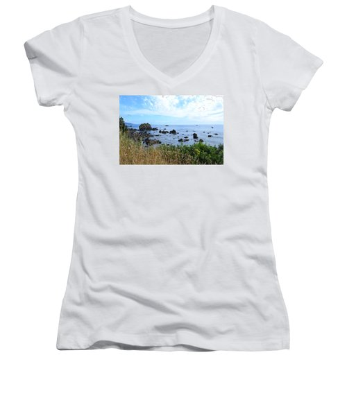 Northern California Coast2 Women's V-Neck T-Shirt