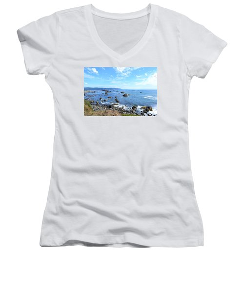 Northern California Coast3 Women's V-Neck T-Shirt