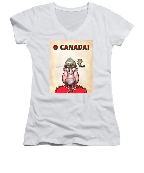 O Canada Women's V-Neck