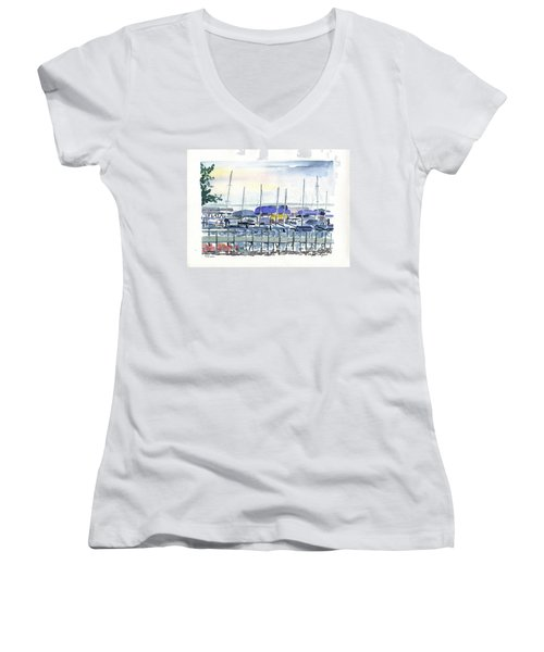 Okoboji Women's V-Neck T-Shirt