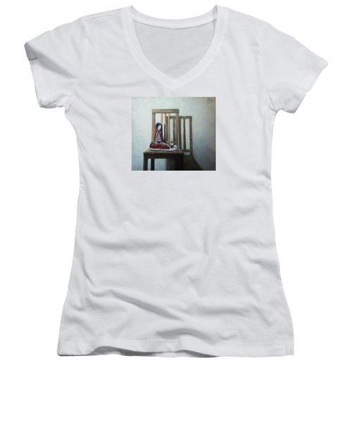 Old All Stars Women's V-Neck T-Shirt (Junior Cut) by Natalia Tejera