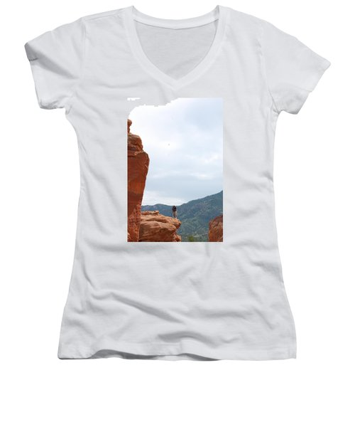 Only A Photographer Would Do.. Women's V-Neck T-Shirt (Junior Cut) by Randy J Heath
