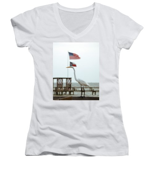 Patriotic Women's V-Neck (Athletic Fit)