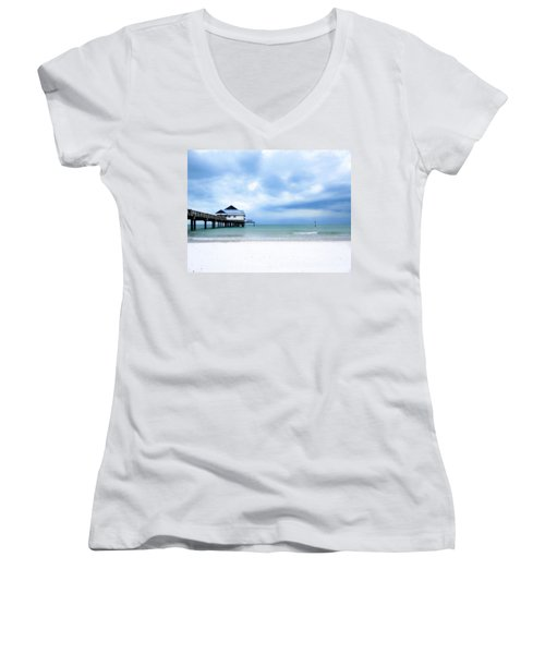 Pier 60 At Clearwater Beach Florida Women's V-Neck