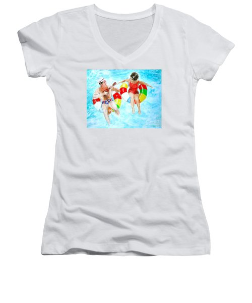 Pool Women's V-Neck T-Shirt