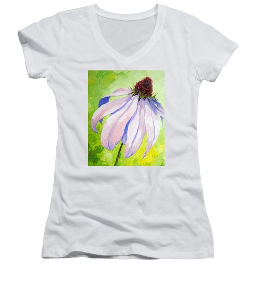Purple Coneflower Women's V-Neck T-Shirt