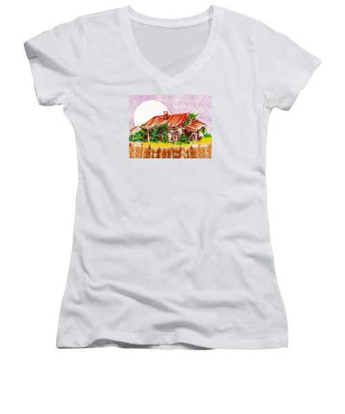 Ready To Fall In Women's V-Neck T-Shirt