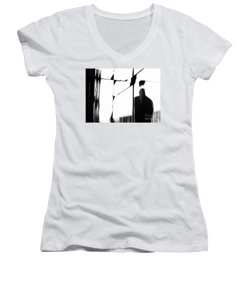 Revolving Doors Women's V-Neck T-Shirt (Junior Cut) by Andy Prendy